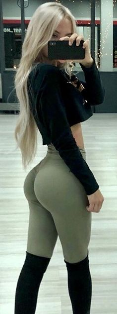 Booty spandex ass workout big