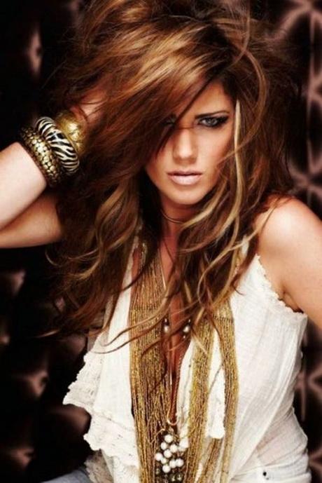 Haarfarbe auf blonde frauen honig schwarze