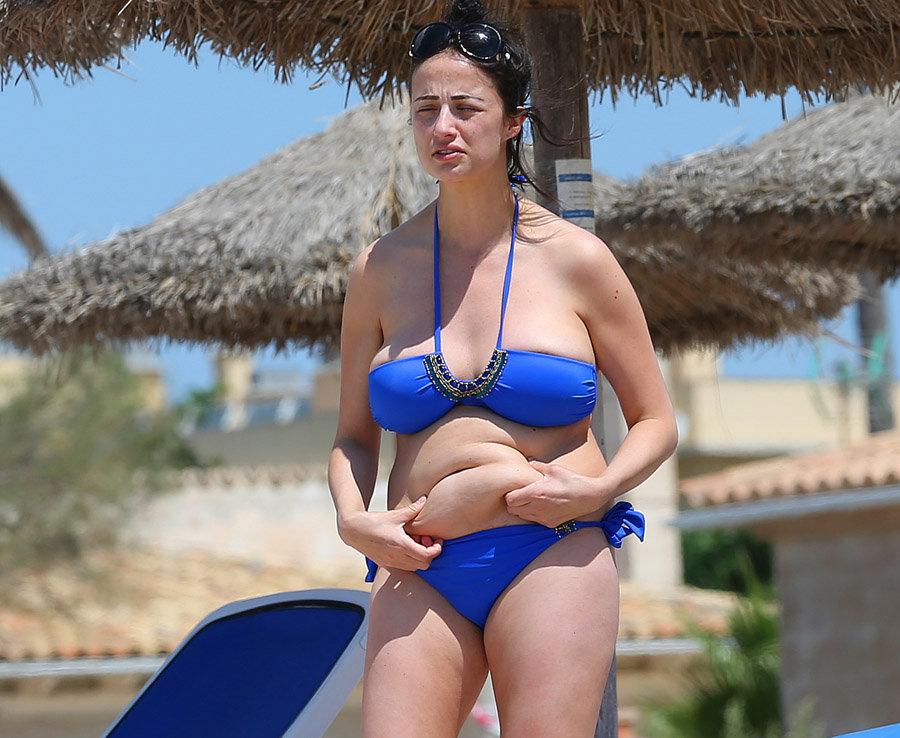 In bruste fat bikini woman big