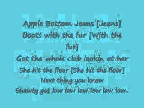 Jeans lyrics rider apple bottom flow