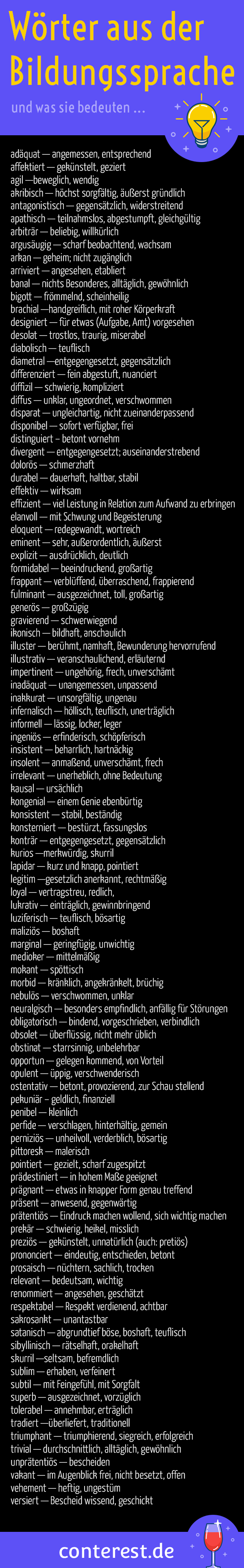 O wörter mit positive beginnend adjektiv