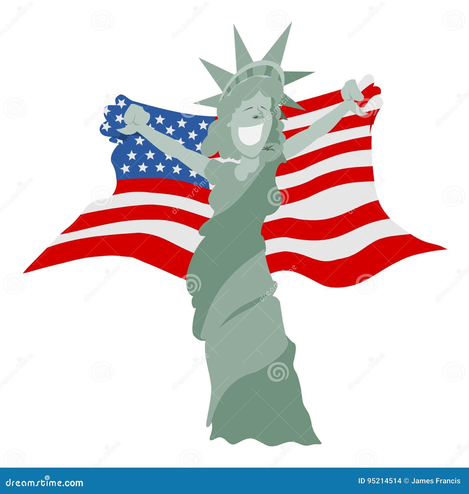 Flag bondage cartoon miss american