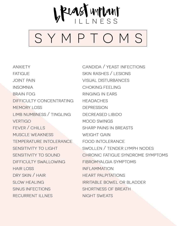 Undichte brust implats symptom s