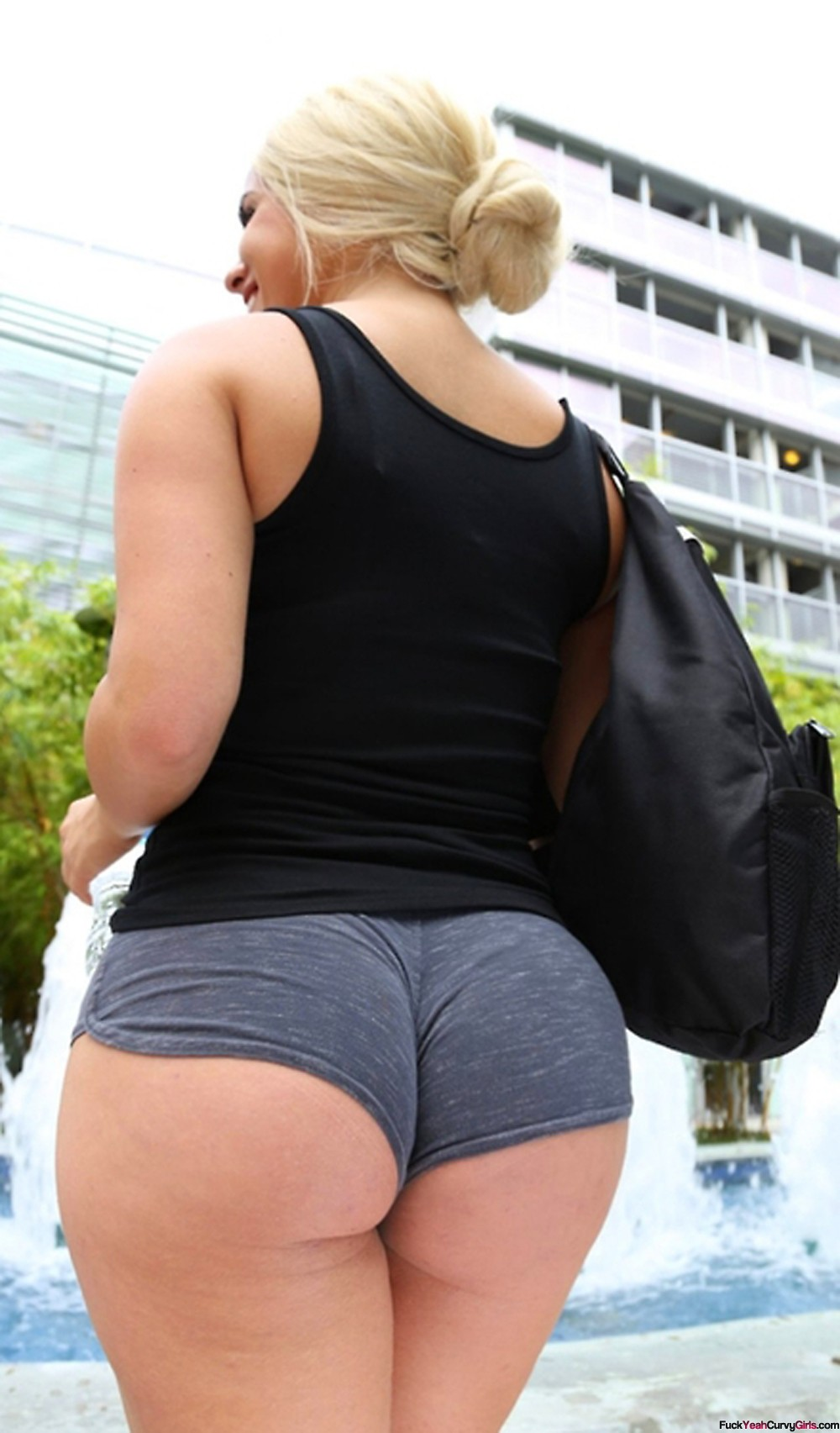 Ass booty big shorts pawg