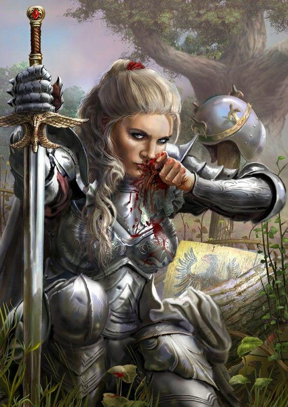Warrior woman fantasy kunst female