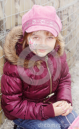 Body junge teen paint girl
