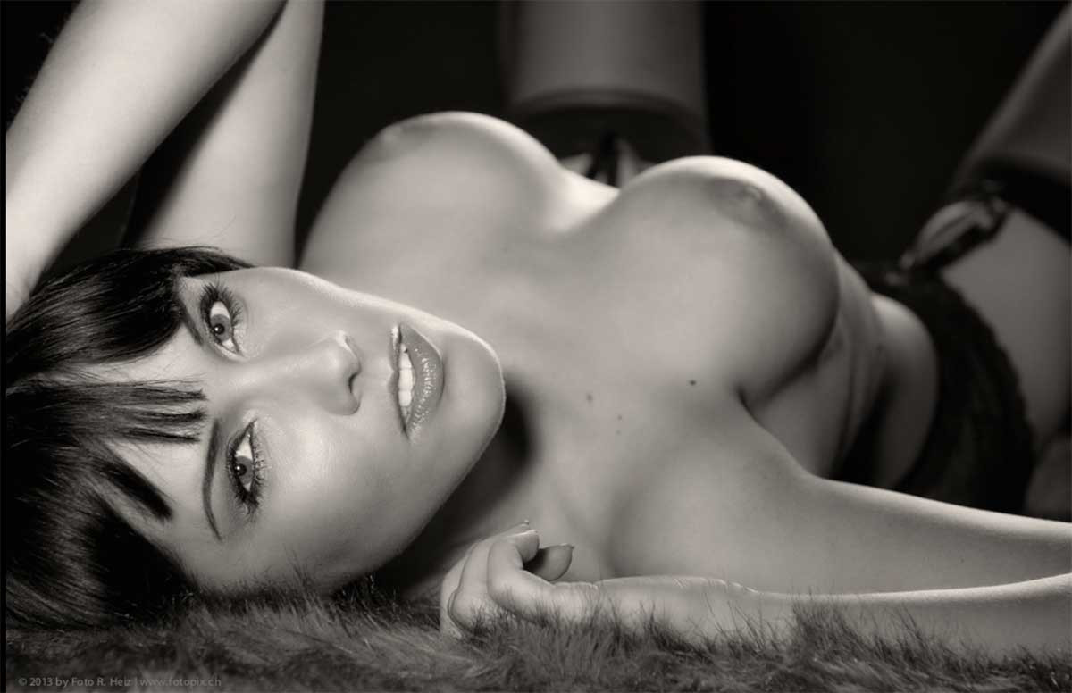 And erotic nude black white