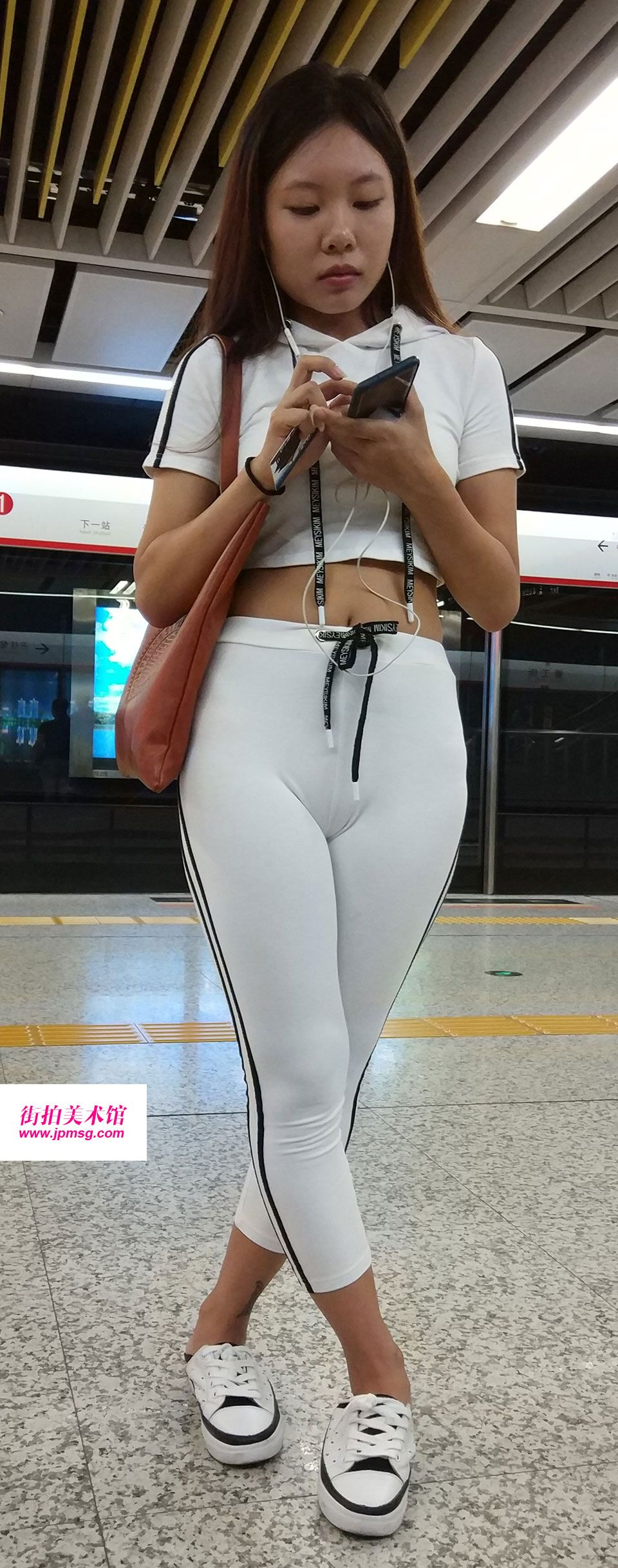 Tight spandex sexy asian in