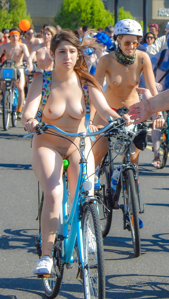 Bike cfnm in london ride naked