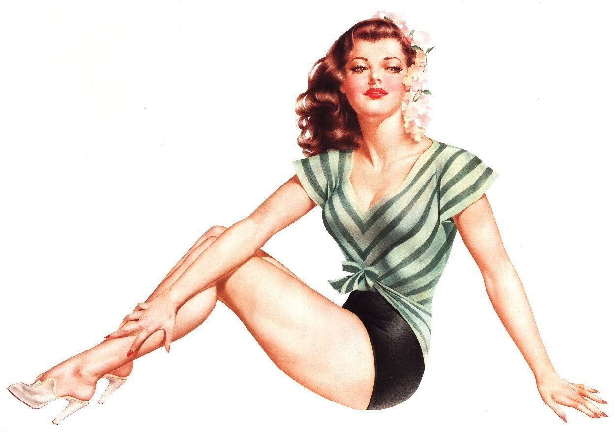 Pin up girls nackt vintage vargas