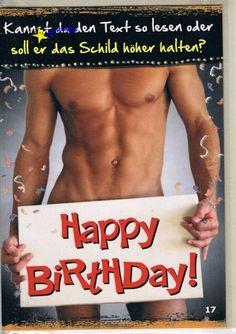 Kuchen happy birthday nackte mann