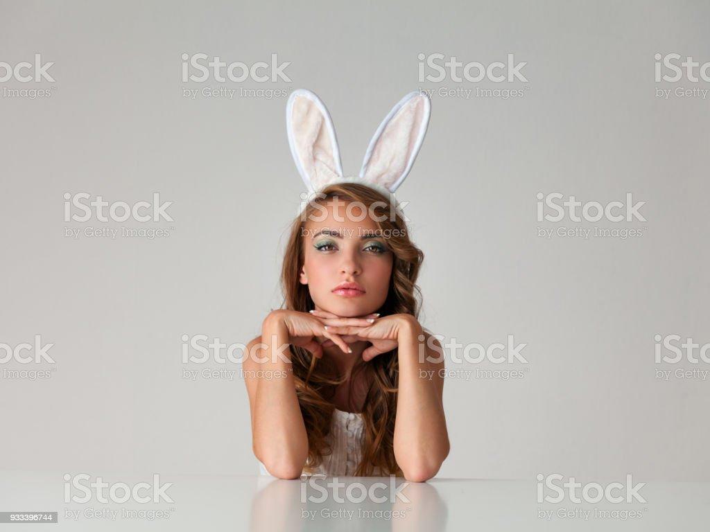 Tragen playboy strumpfhosen paar bunnies zwei