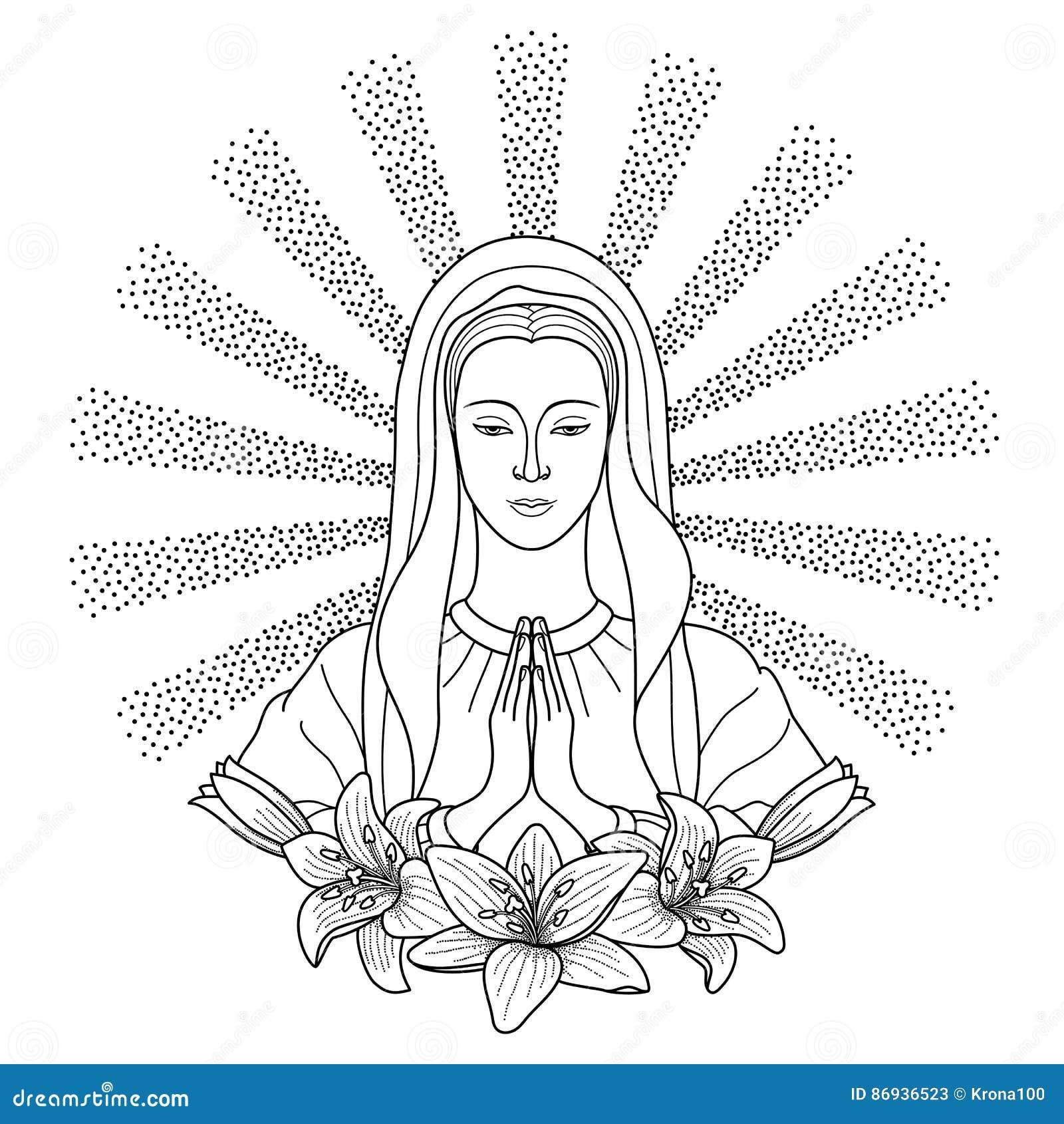 Maria jungfrau mond cresent und