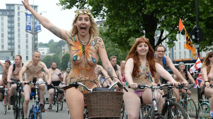 Bike world ride nackt naked