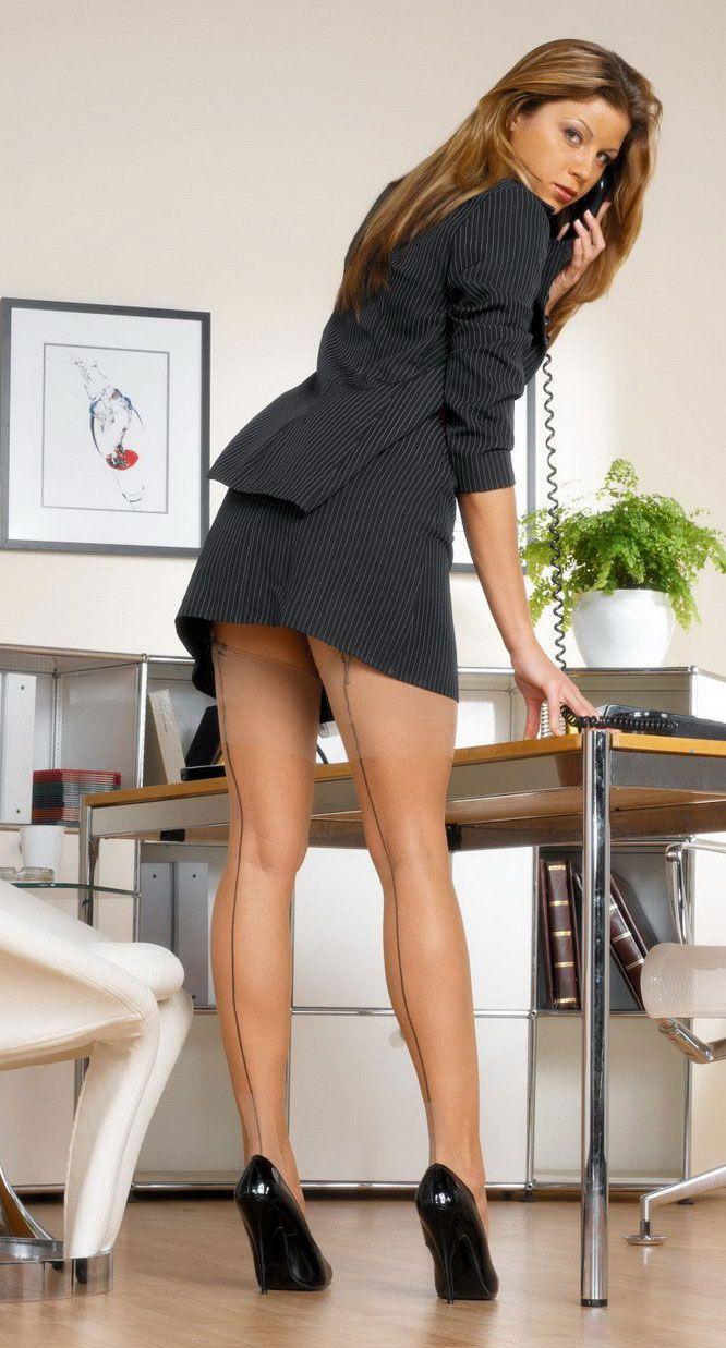 Und heels high strumpfhosen business frauen