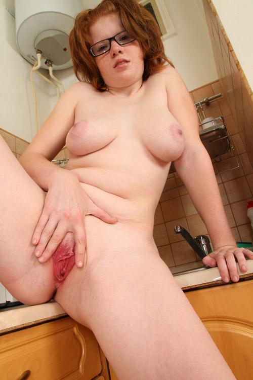 Girls solo redhead chubby fat