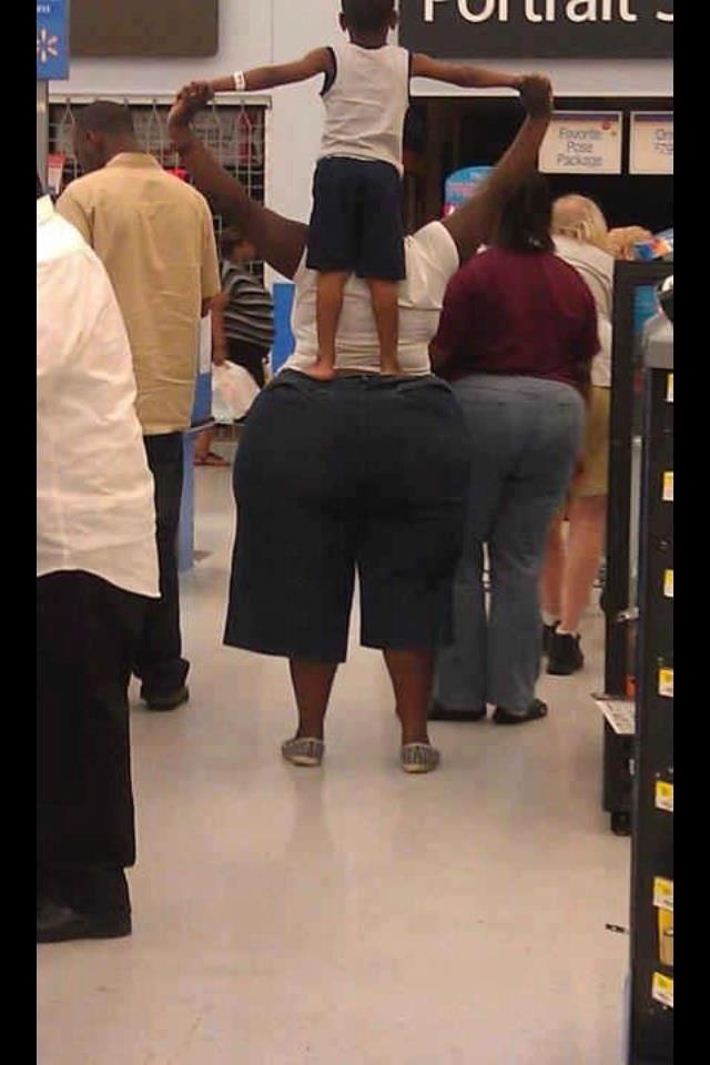 Walmart blinken bei offentlich arsch