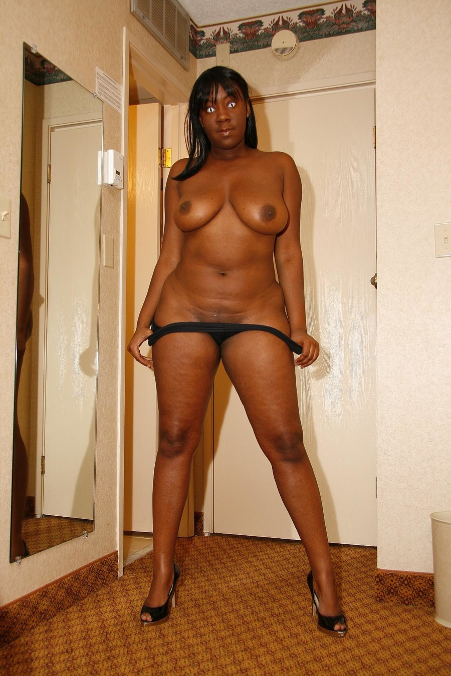 Chubby bikini solo black girl