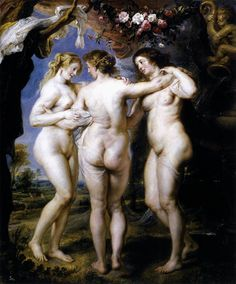 Die frauen nude drei renaissance malerei