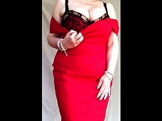 Engen kleid roten tits big