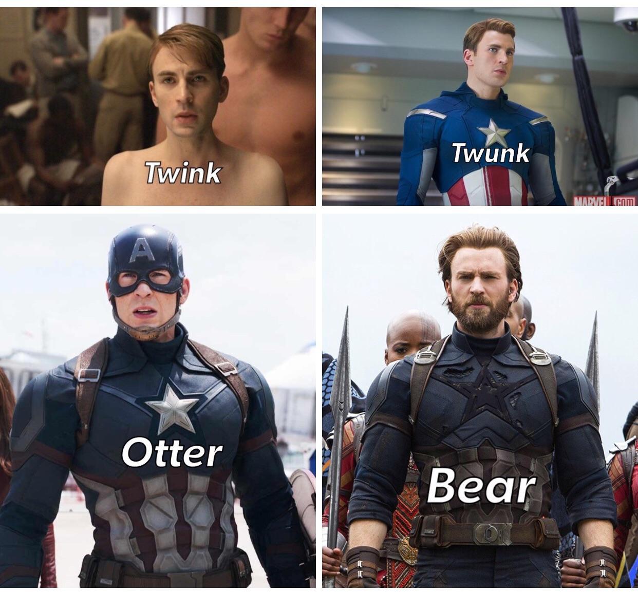 Avenger der kapitan americock twink