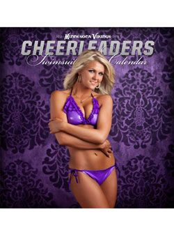 Cheerleaders kalender swimsuit vikings minnesota